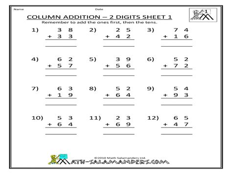 expanded addition year 4 worksheets column addition