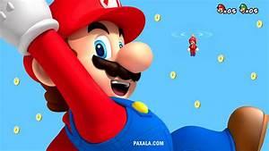 Wallpaper: Mario Bros lluvia de Monedas