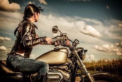 Biker Rocking Motorcycle Wallpapers Bike Woman Moving