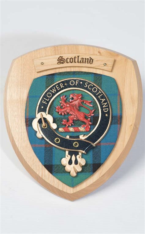Hand cast stone wall decor. Clan Crest Wall Plaque by Scotweb