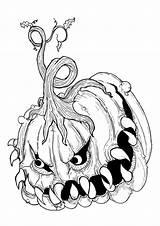 Halloween Disegni Colorare Spaventosi Stampare Pianetabambini sketch template