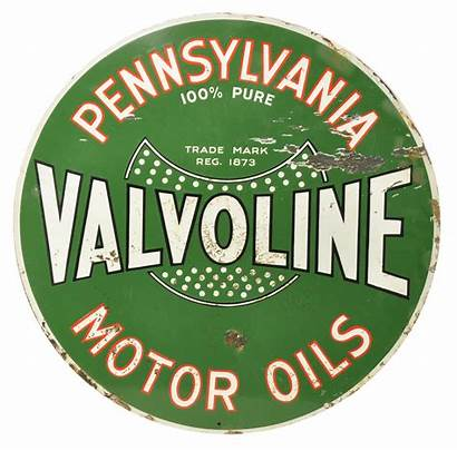 Valvoline Sign Motor Oil Porcelain Signs Advertising
