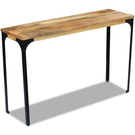 Vidaxlcouk  Vidaxl Console Table Mango Wood 120x35x76 Cm