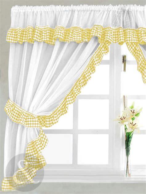 Grey Gingham Kitchen Curtains  Curtain Menzilperdenet