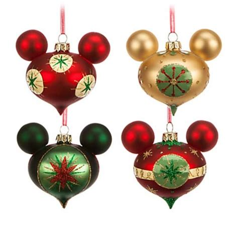 your wdw store disney ornament set mickey mouse retro - Disney Christmas Ornaments Collection