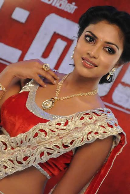 south amala paul low hip saree stills