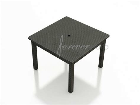 picnic table with umbrella hole forever patio barbados wicker square 48 dining table with