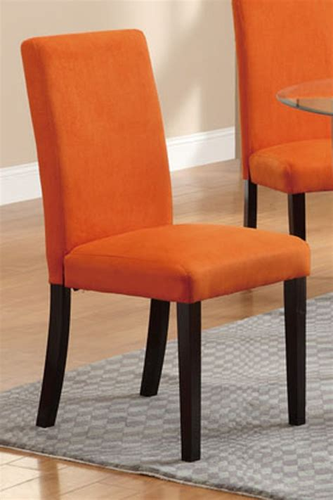 poundex f1303 orange fabric dining chair a sofa