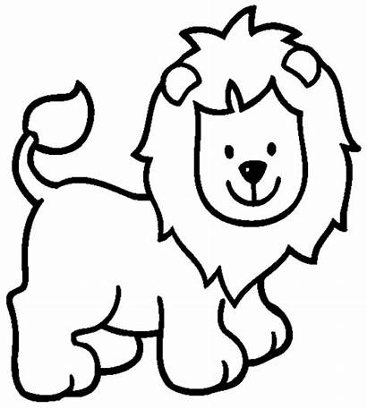Lion Coloring Pages Cartoon Face Sheet Printable
