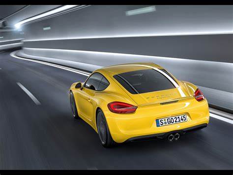 Images Of Worldknown Cars, Porsche Cayman Seen From Rear