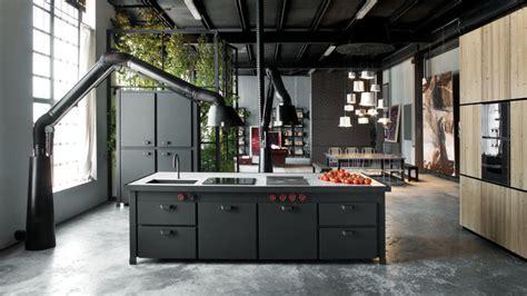 plan de travail cuisine effet beton minà un îlot de cuisine tout en un ultra contemporain