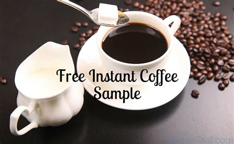 Free Instant Coffee Sample