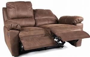 Canapé 2 Places But : canap de relaxation 2 places manuel cuir marron avec surpiq re duck ~ Teatrodelosmanantiales.com Idées de Décoration