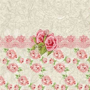 Vintage Pink And Cream Rose Pattern | Vintage pink and ...