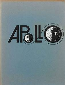 Apollo 11 Mission Logo Design in Vintage NASA Brochure