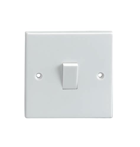 1 way single light switch 5a electrovision leaders