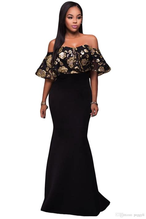 HD wallpapers plus size black and gold cocktail dress