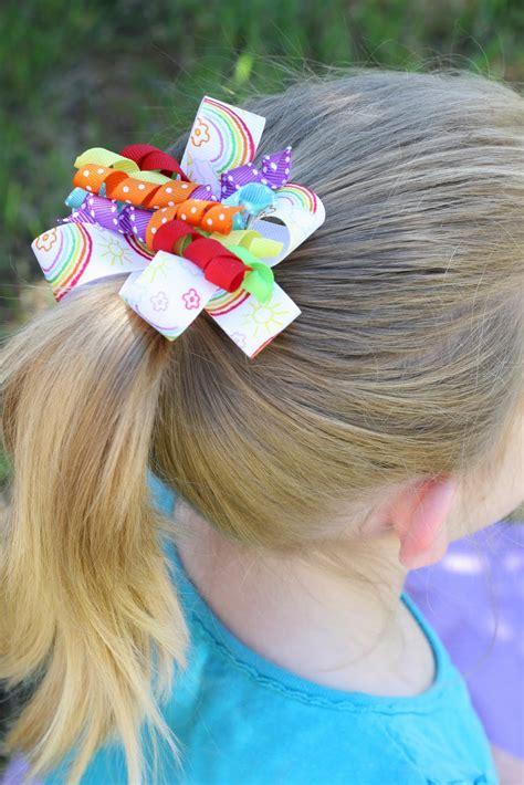 How To Make Curly Ribbon Hair Bows Glorious Treats