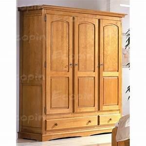 Armoire En Pin Massif : armoire 3 portes en pin rea 3 ecopin meubles en pin ~ Teatrodelosmanantiales.com Idées de Décoration