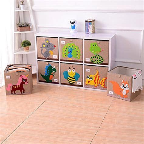 Wo Baby Foldable Canvas Fabric Toy Storage Box/Cube/Bin