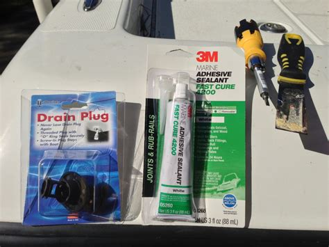 Installing New Boat Drain Plug by Installed A New Drain Plug How Does It Look The Hull