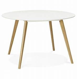 Table De Cuisine Ronde : table de cuisine ronde amy blanche style scandinave ~ Teatrodelosmanantiales.com Idées de Décoration
