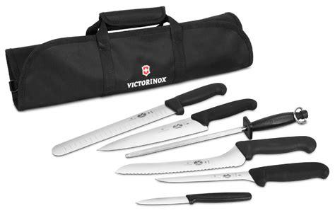 victorinox kitchen knives set victorinox fibrox culinary knife roll set 7