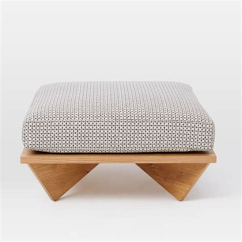 Low Ottoman by Commune Low Cushion Ottoman West Elm