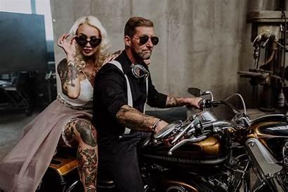 Hochzeit Biker Rocker Styled Shoot Kuessdiebraut Stilechte