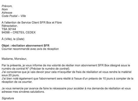 modele lettre de fin de collaboration r 233 siliation contrat mod 232 le de lettre