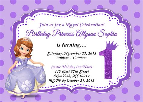 sofia the free invitation templates custom photo invitations sofia the birthday invitation