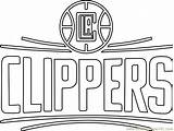Coloring Clippers Angeles Los Pages Nba Coloringpages101 sketch template