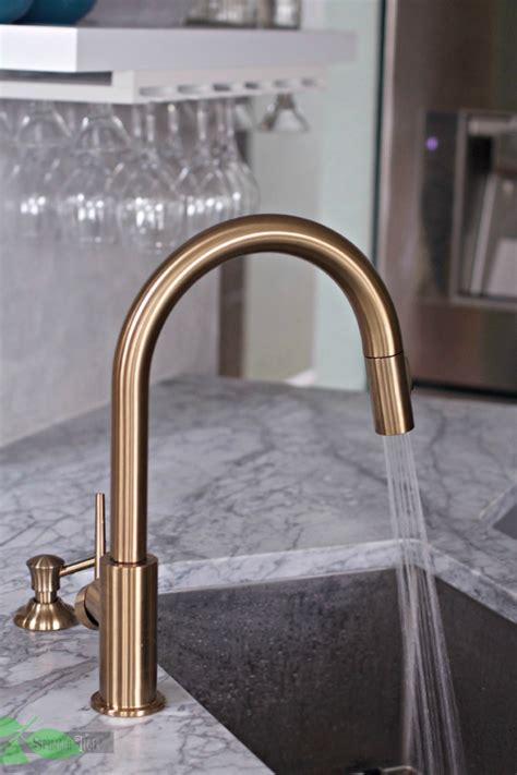 how to change the kitchen faucet delta gold kitchen faucet chic and functional