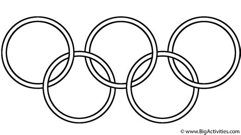 olympic symbol coloring page olympics