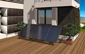 Fixation Panneau Solaire : fixation au sol du kit solaire 4 panneaux gse groundsystem ~ Dallasstarsshop.com Idées de Décoration