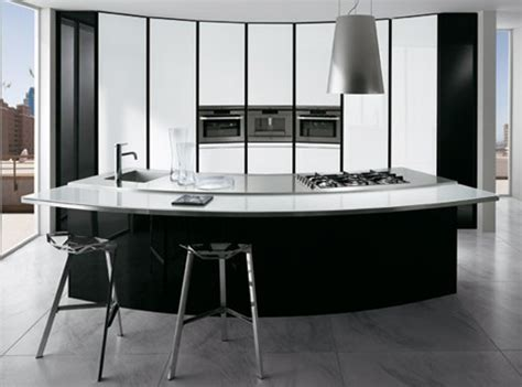 black kitchen island with stainless steel top curved kitchen designs curved kitchen islands curved