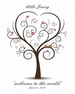 items similar to baby shower fingerprint tree printable With baby shower thumbprint tree template