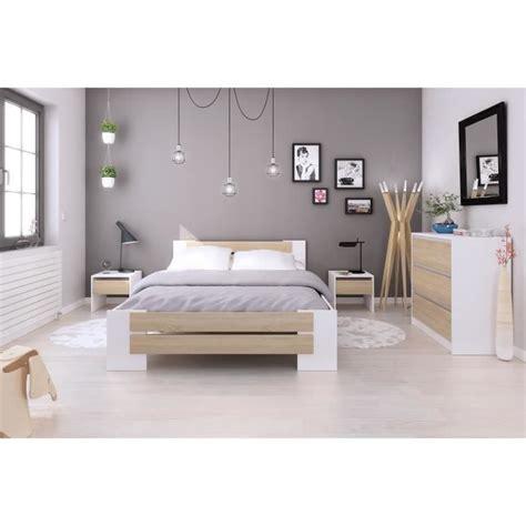 idée chambre adulte mao chambre adulte compl 232 te contemporain blanc mat et d 233 cor ch 234 ne sonoma l 140 x l 190 cm