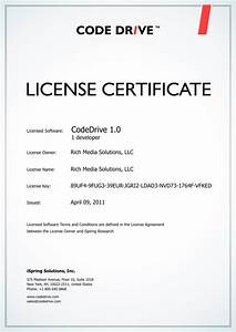 Certificate of license template software license for Software license certificate template