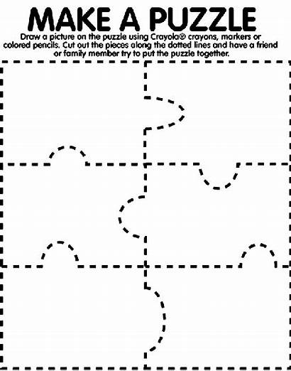 Puzzle Coloring Pages Crayola Pieces Puzzles Piece