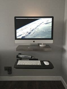scrivania imac and modern transparent acrylic console for imac