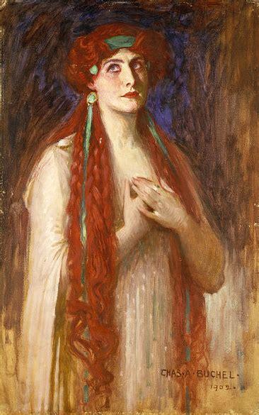red hair  paintings women   long red hair
