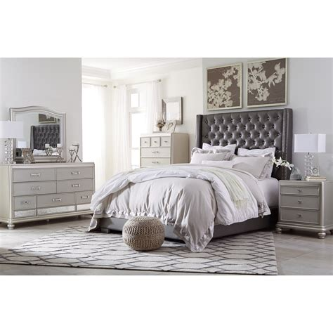 Ashley Signature Design Coralayne Queen Upholstered Bed