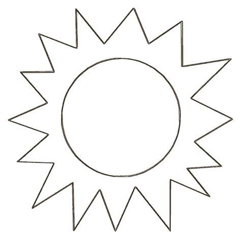 Sun Template Free Printable Sun Cut Out Templates Scrapbooking