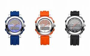 Tocs Ani-Digi Solar Chronograph Watch