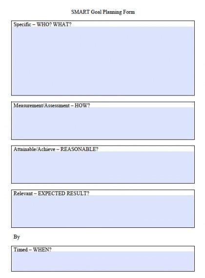 smart goals worksheet templates excel