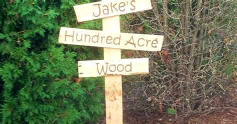 Winne The Pooh. Hundred Acre Wood Sign. Made With A Pallet