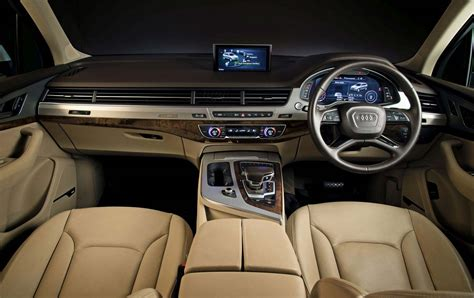 audi q7 interior audi q7 and a6 design edition models launched in india
