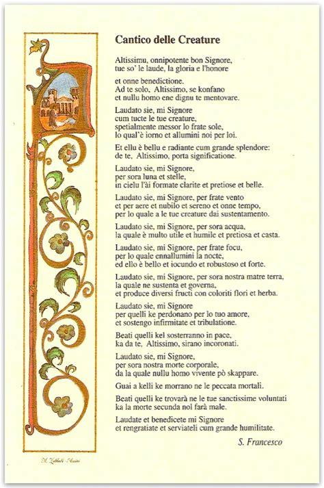 cantico delle creature testo italiano per bambini poem 225 vasculhado 5 c 226 ntico das criaturas di