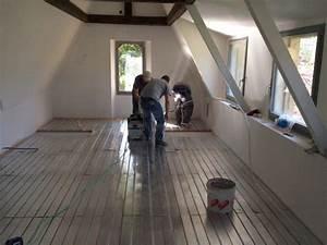 plancher chauffant renovation le plancher chauffant par With pose parquet chauffage au sol